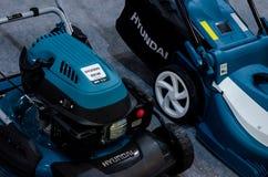 Hyundai gazonu kosiarzi dla sprzeda?y obrazy royalty free