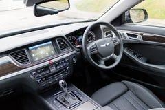 Hyundai GENESIS 2015 interior Royalty Free Stock Images