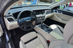 Hyundai Genesis interior Stock Photos