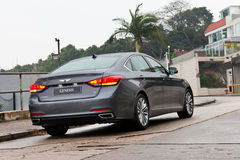 Hyundai GENESIS 2015 Test Drive Royalty Free Stock Photos