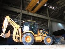 Hyundai grävskopa Loader Arkivfoto