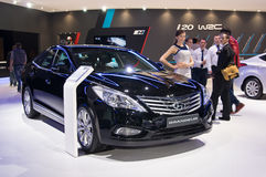 Hyundai Grandeur. Moscow-September 2: Hyundai Grandeur at the Moscow International Automobile Salon on September 2, 2014 in Moscow Royalty Free Stock Image
