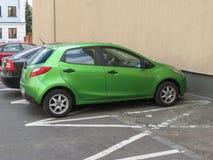 Hyundai green car in Bergamo Stock Image