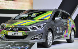 "Hyundai i40 ""Stylish Sport Wagon"" 2014FIFA World Cup Spirit Royalty Free Stock Photography"