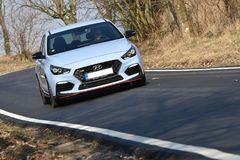 Hyundai i30 N. In Libcice nad Vltavou, Czech republic, March 1, 2018 Royalty Free Stock Image