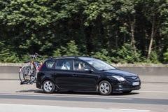 Hyundai i30 Tourer on the road Royalty Free Stock Images