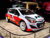 Hyundai i20 WRC Geneva 2014 Royalty Free Stock Photography
