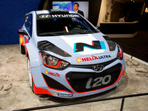 Hyundai i20 WRC Geneva 2014 Royalty Free Stock Photos