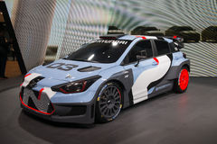 Hyundai i20 WRC rally car - world premiere Stock Images