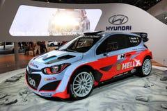 Hyundai i20 WRC tävlings- bil Arkivbild