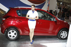 A Hyundai i20 on display at Auto Expo 2012 Stock Photography