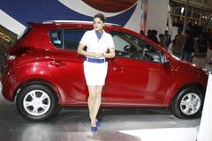 Hyundai i20 op vertoning in AutoExpo 2012 Stock Fotografie