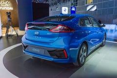 Hyundai IONIQ στην επίδειξη Στοκ Φωτογραφίες