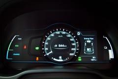 Hyundai IONIQ Hybrid Dashboard Royalty Free Stock Photos