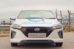 Hyundai IONIQ Hybrid Drive Day Stock Images