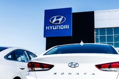 Noblesville - Circa March 2018: Hyundai Motor Company Dealership. Hyundai is a South Korean Automotive Manufacturer VI. Hyundai Motor Company Dealership. Hyundai Royalty Free Stock Photography
