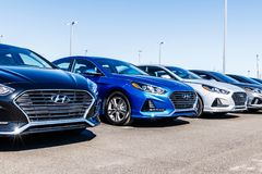 Noblesville - Circa March 2018: Hyundai Motor Company Dealership. Hyundai is a South Korean Automotive Manufacturer VIII. Hyundai Motor Company Dealership Stock Photography