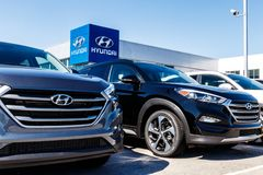 Indianapolis - Circa March 2018: Hyundai Motor Company Dealership. Hyundai is a South Korean Automotive Manufacturer I. Hyundai Motor Company Dealership. Hyundai Stock Image