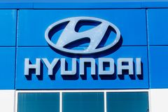 Noblesville - Circa March 2018: Hyundai Motor Company Dealership. Hyundai is a South Korean Automotive Manufacturer V. Hyundai Motor Company Dealership. Hyundai Royalty Free Stock Photo