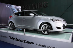 A Hyundai nova Veloster na cor de prata Imagens de Stock