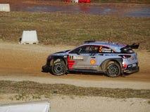 Hyundai Rally car Royalty Free Stock Images