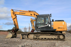 Hyundai Robex Crawler Excavator at Construction Site Royalty Free Stock Images