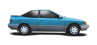 Hyundai S coupe side view Stock Image
