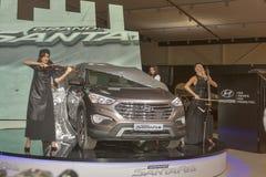 Hyundai SantaFe Grand car model presentation Stock Photo