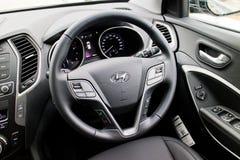 Hyundai SantaFe 2015 Interior Royalty Free Stock Photo