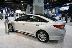 2015 Hyundai Sonata Luxury Car. Photo of 2015 hyundai sonata luxury car at the 2015 washington dc auto show at the washington dc convention center on 1/24/15 stock photo