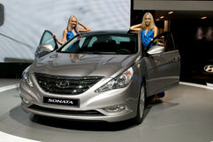 Hyundai Sonata - russian premiere Stock Photography