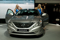 Hyundai Sonata - russian premiere. MOSCOW, RUSSIA - August 26: Moscow International Automobile Salon 2010. Hyundai Sonata - russian premiere Stock Image