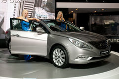 Hyundai Sonata - russian premiere Royalty Free Stock Photos