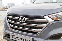 Hyundai Tucson liftingu twarzy 2015 maska Zdjęcia Stock