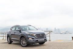 Hyundai Tucson liftingu twarzy 2015 testa Prowadnikowy dzień Zdjęcie Royalty Free