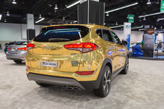 Hyundai Tucson på skärm royaltyfri foto