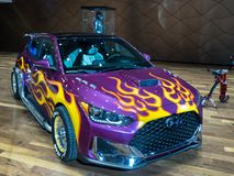 2019 Hyundai Veloster, Ant-Man and the Wasp Movie, NAIAS royalty free stock photography