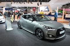 Hyundai Veloster Turbo at the AMI. Leipzig, Germany Royalty Free Stock Photo