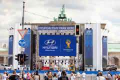 Hyundai World Cup Fan Park Royalty Free Stock Photo
