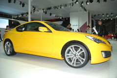 Hyundai yellow car royalty free stock photography