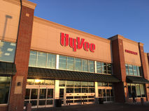 Hyvee超级市场商店前面 免版税库存图片