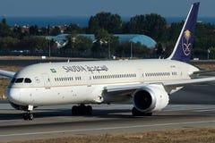 HZ-ARD Saudi Arabian Airlines, Boeing 787-9 Dreamliner Imagens de Stock