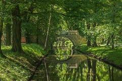 IÅ 'owa parka i pałac kompleks, kamienia most Fotografia Royalty Free