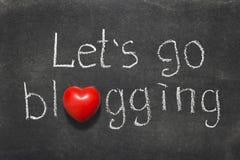 Iść blogging obrazy royalty free