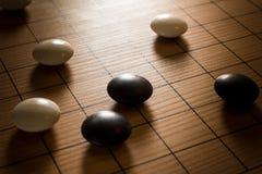 Iść, Chiński szachy Rocznik filtrujący styl obraz stock