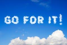 Iść dla go wiadomość robić chmury Obraz Royalty Free