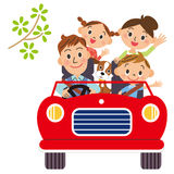 Iść dla przejażdżki w rodzinach ilustracja wektor