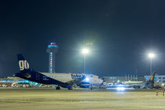 Iść Lotniczy Aerobus 320-Stock wizerunek Zdjęcia Stock
