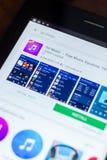Iść Muzyczna ikona w liście mobilni apps Ryazan Rosja, Marzec - 21, 2018 - Obrazy Stock