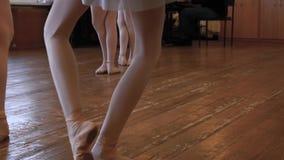 Iść na piechotę balerinas które podczas baletniczej lekci ćwiczenia zbiory wideo